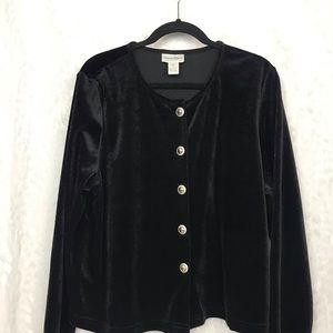 Diane Von Furstenberg Black velvet blazer jacket